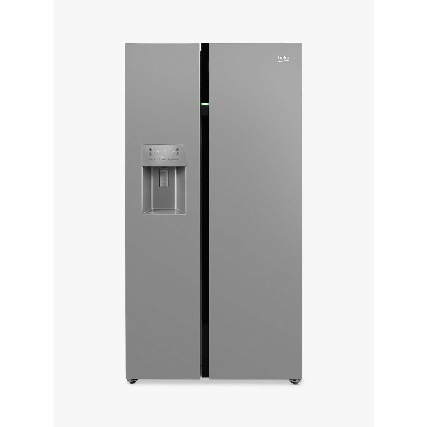 Beko Asgn542s American Style Fridge Freezer A Energy Rating 91cm Wide Silver