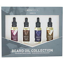 Buy Men Rock Beard Oil Collection Online at johnlewis.com