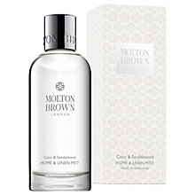 Buy Molton Brown Coco & Sandalwood Home & Linen Mist, 100ml Online at johnlewis.com