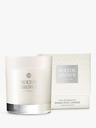 Molton Brown Coco & Sandalwood Single Wick Scented Candle, 180g