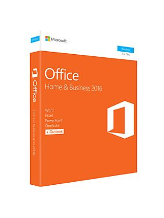 Microsoft Office Home and Business 2016, 1 PC, One-Off Payment