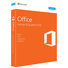 Buy Microsoft Office Home and Student 2016, 1 PC, One-Off Payment Online at johnlewis.com