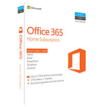 Buy Microsoft Office 365 Home Premium, 5 PCs/Macs + Tablet, One-Year Subscription Online at johnlewis.com