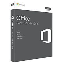 Buy Microsoft Office Home and Student 2016, 1 Mac, One-Off Payment Online at johnlewis.com
