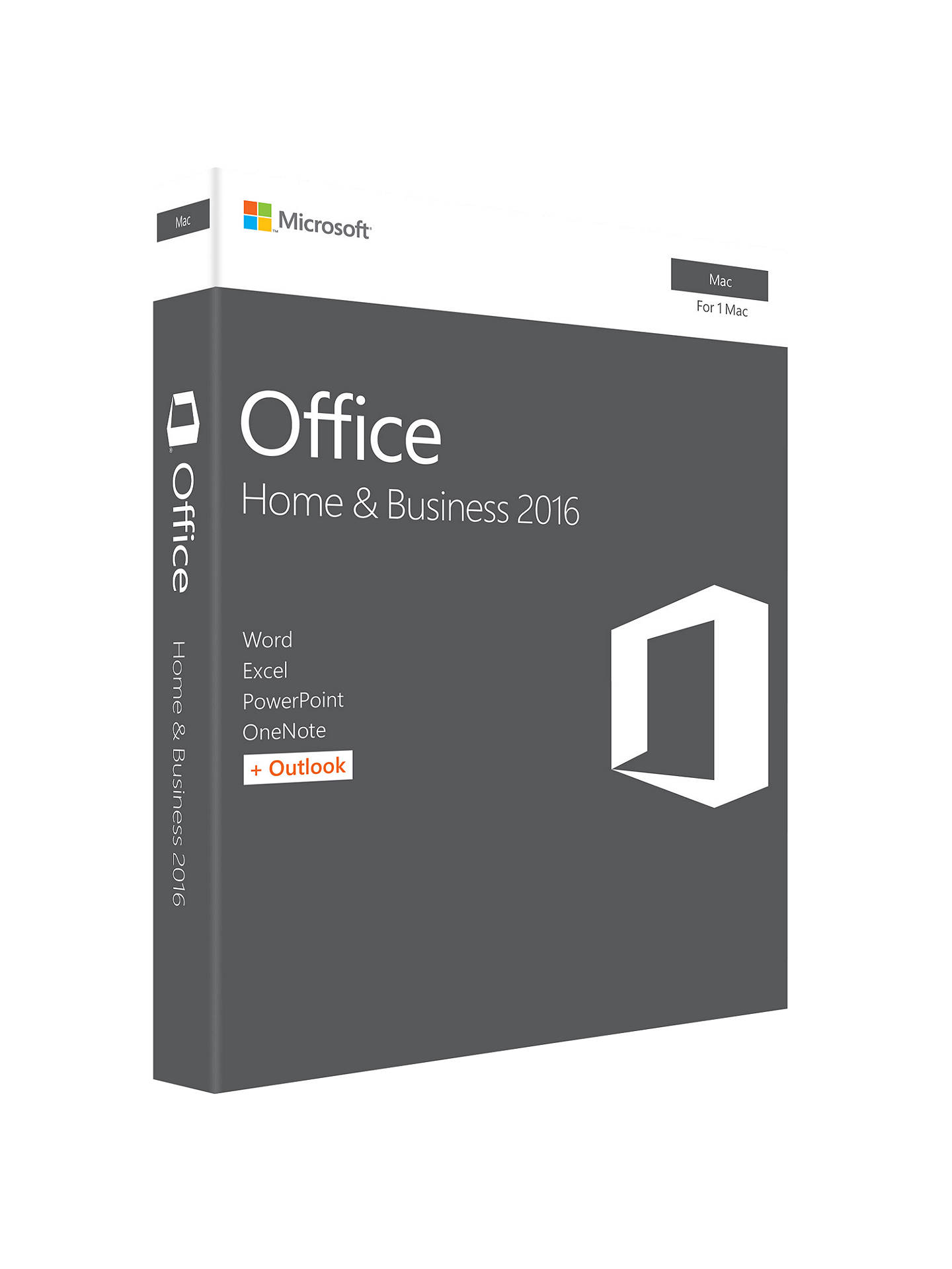 Buy Microsoft Office Home and Business 2016, 1 Mac, One-Off Payment Online at johnlewis.com