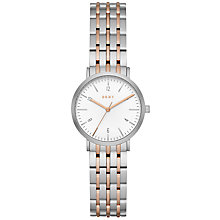 Buy DKNY NY2512 Women's Minetta Two Tone Bracelet Strap Watch, Silver/Rose Gold Online at johnlewis.com