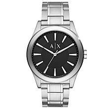 Buy Armani Exchange AX2320 Men's Bracelet Strap Watch, Silver/Black Online at johnlewis.com