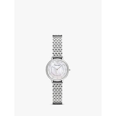Emporio Armani AR2511 Women's Crystal Bracelet Strap Watch, Silver