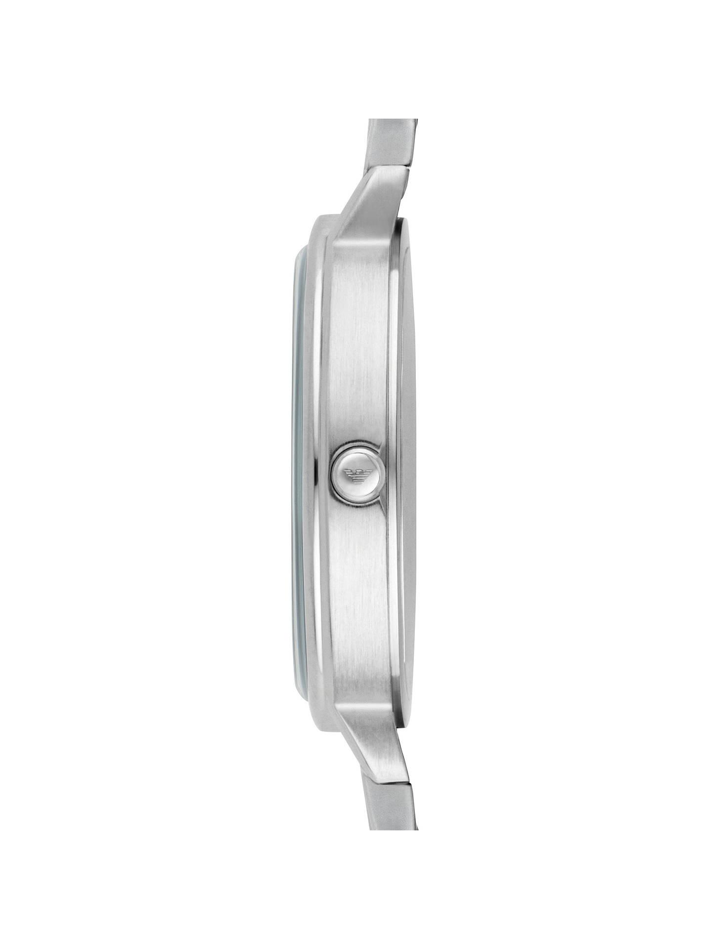 9aee53bc Emporio Armani AR2511 Women's Crystal Bracelet Strap Watch, Silver