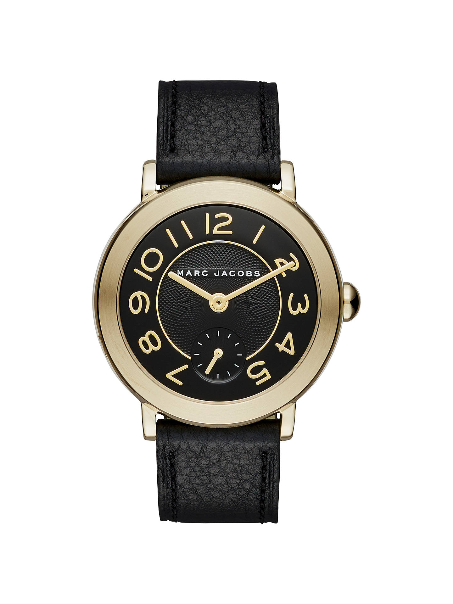 bd2ffda811e53 Buy Marc Jacobs MJ1471 Women's Riley Leather Strap Watch, Black Online at  johnlewis. ...