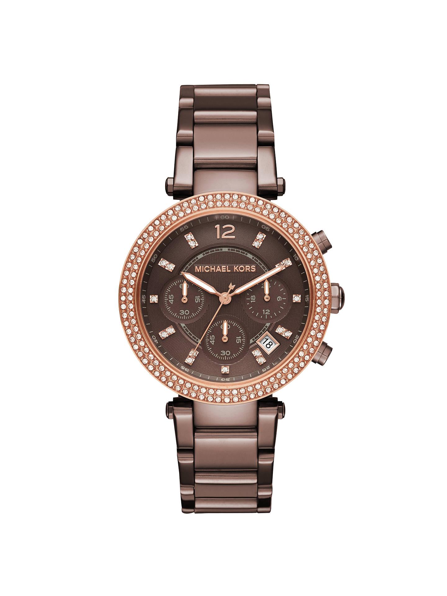 3aa2fad79aa8 Buy Michael Kors MK6378 Women s Parker Chronograph Date Bracelet Strap Watch