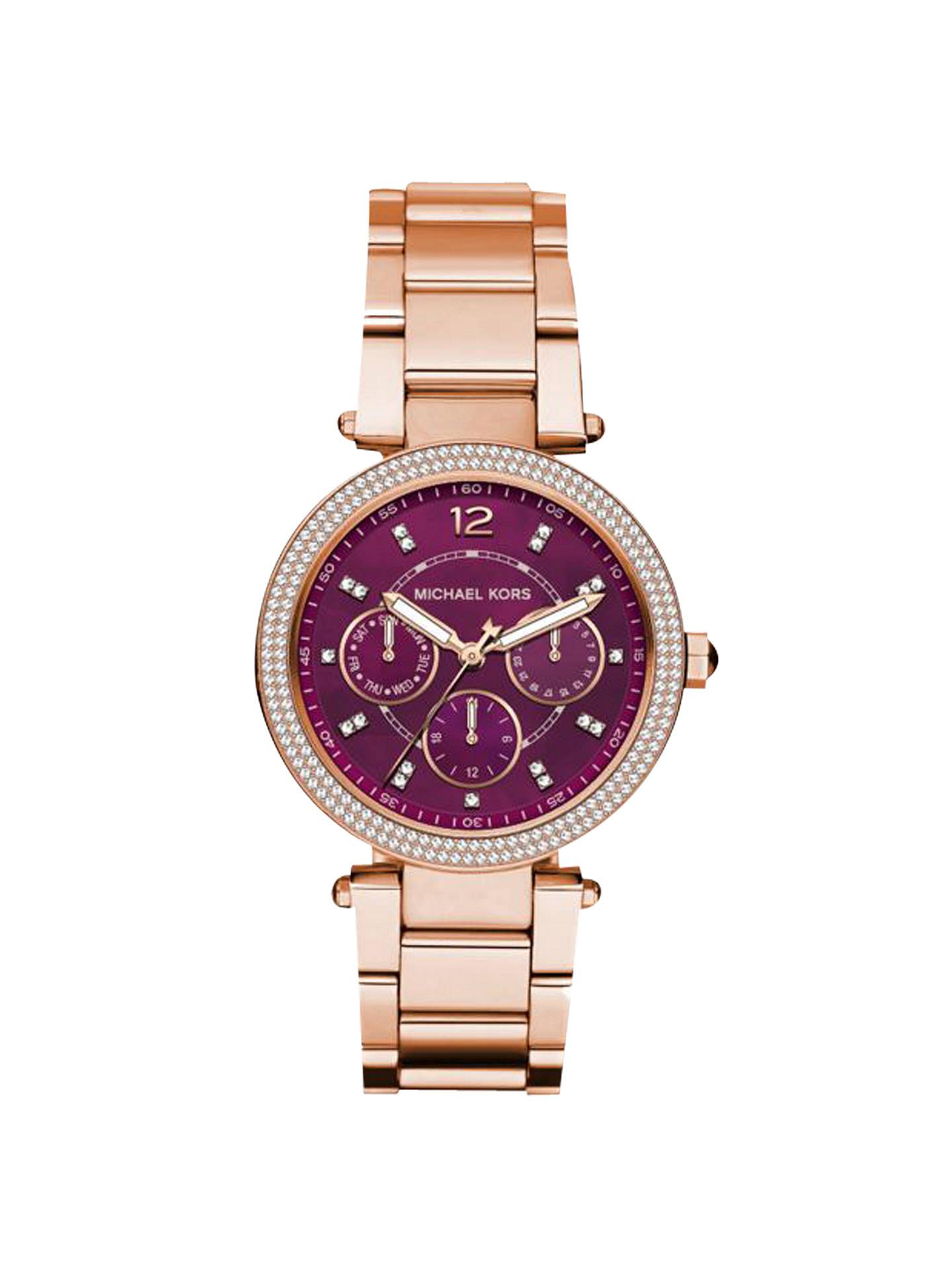 2122168131f9 Buy Michael Kors MK6403 Mini Parker Single Chronograph Crystal Bracelet  Strap Watch