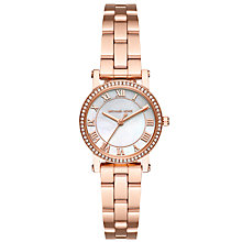 Buy Michael Kors MK3558 Women's Petite Norie Crystal Bracelet Strap Watch, Rose Gold/White Online at johnlewis.com