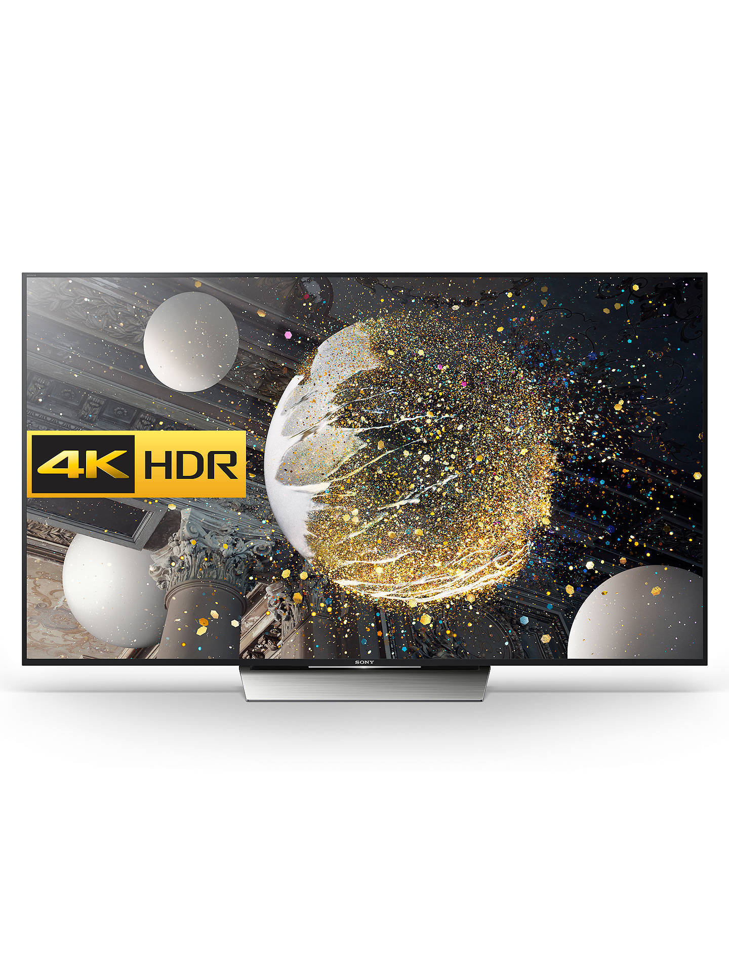"Buy Sony Bravia 85XD8505 LED HDR 4K Ultra HD Android TV, 85"" With Youview/Freeview HD & Silver Slate Design Online at johnlewis.com"