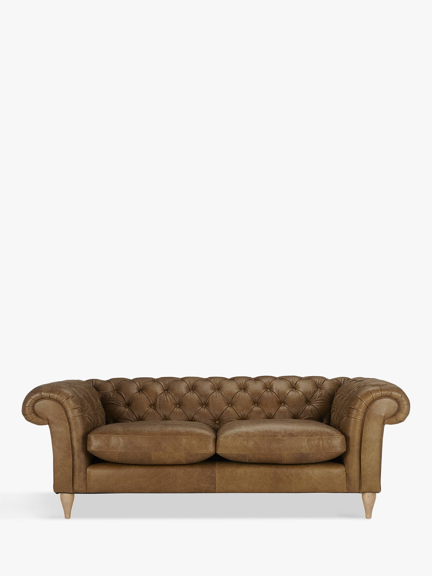John Lewis Partners Cromwell Chesterfield Leather Grand 4 Seater