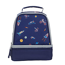 Buy John Lewis Space Print School Lunchbox, Navy Online at johnlewis.com