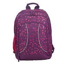 Buy John Lewis Stars Print School Backpack, Purple/Pink Online at johnlewis.com