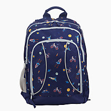 Buy John Lewis Space Print School Backpack, Navy Online at johnlewis.com