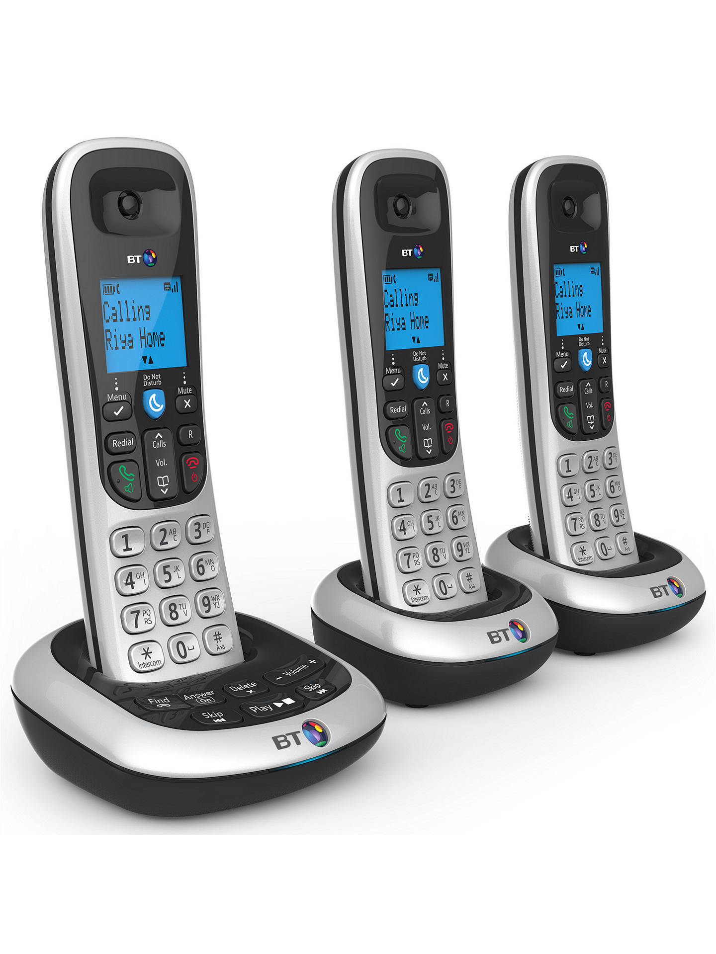 BT 2700 Digital Cordless Phone with Answering Machine, Trio DECT at John Lewis & Partners