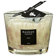 Buy Baobab White Pearls Candle, 1.5kg Online at johnlewis.com