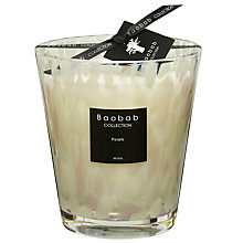 Buy Baobab White Pearls Candle,  2.5kg Online at johnlewis.com