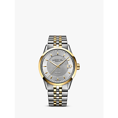 Raymond Weil 2740-STP-6502 Men's Freelancer Date Bracelet Strap Watch, Gold/Silver