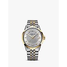 Buy Raymond Weil 2740-STP-6502 Men's Freelancer Date Bracelet Strap Watch, Gold/Silver Online at johnlewis.com