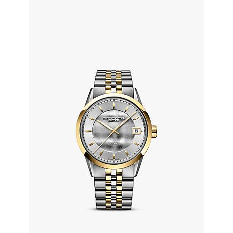 raymond weil men s watches john lewis buy raymond weil 2740 stp 6502 men s lancer date bracelet strap watch gold