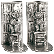 Buy Royal Selangor Teddy Bears Picnic Bookends, Silver Online at johnlewis.com