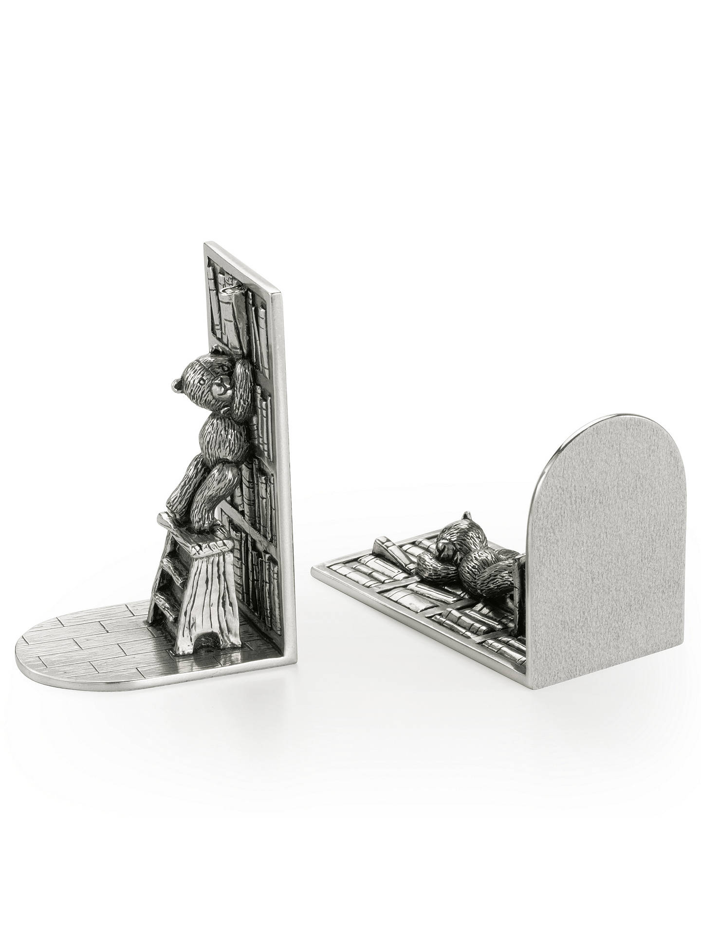 BuyRoyal Selangor Teddy Bears Picnic Bookends, Silver Online at johnlewis.com