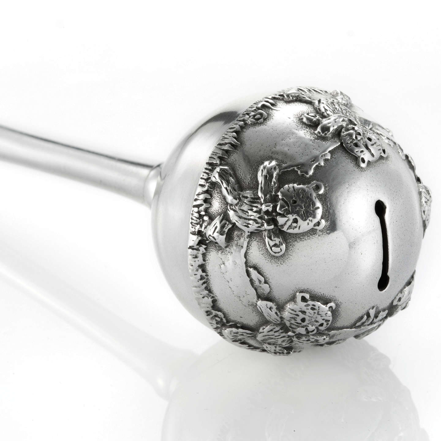 BuyRoyal Selangor Baby Rattle, Silver Online at johnlewis.com