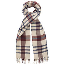 Buy Phase Eight Joni Check Scarf, Camel Online at johnlewis.com