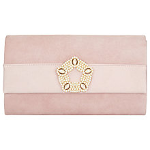 Buy Phase Eight Georgie Suede Clutch Bag, Rose Online at johnlewis.com