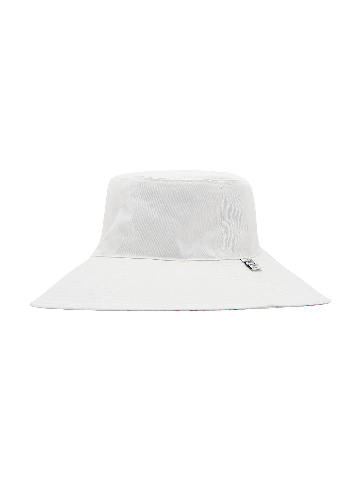 99bc5cda1 Joules Celia Floral Sun Hat, White/Multi at John Lewis & Partners