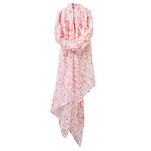 Buy Joules Wensley Sketch Hare Print Scarf, Off White/Coral Online at johnlewis.com
