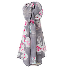 Buy Joules Julianne Floral Wool Scarf, Soft Grey/Multi Online at johnlewis.com