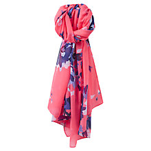 Buy Joules Wensley Floral Scarf, Coral/Multi Online at johnlewis.com
