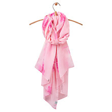 Buy Joules Wensley Floral Orchid Print Scarf, Pink Online at johnlewis.com