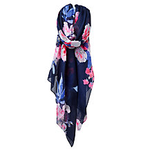 Buy Joules Wensley Floral Print Scarf, Navy/Multi Online at johnlewis.com