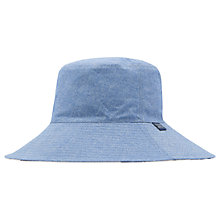 Buy Joules Celia Chambray Sun Hat, Blue/Multi Online at johnlewis.com
