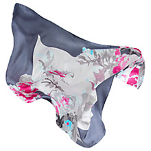 Buy Joules Bloomfield Floral Square Silk Scarf, Navy/Multi Online at johnlewis.com