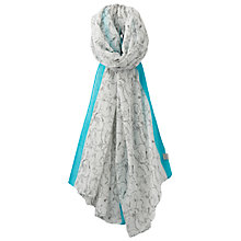 Buy Joules Wensley Hare Print Scarf, Grey/Teal Online at johnlewis.com