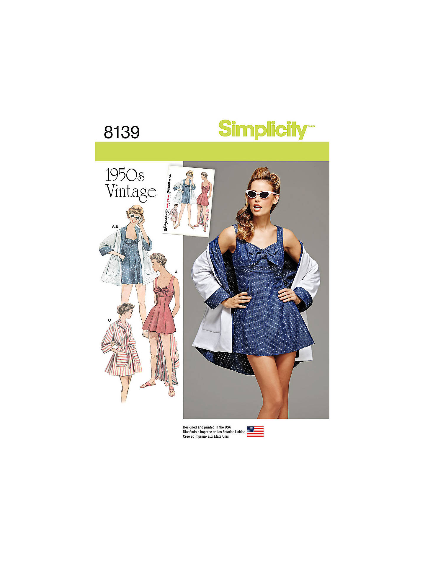 Simplicity Women\'s Vintage Beachwear Sewing Pattern, 8139 at John ...