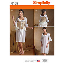 Buy Simplicity Women's Undergarments Costume Sewing Pattern, 8162 Online at johnlewis.com
