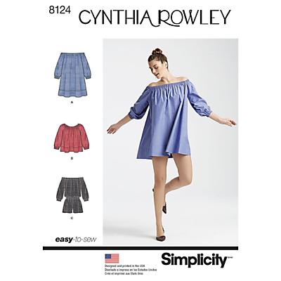 Image of Simplicity Women's Mini Dress Sewing Pattern, 8123