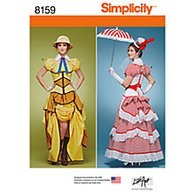 Buy Simplicity Women's Costume Sewing Pattern, 8159 Online at johnlewis.com