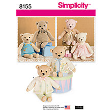 Buy Simplicity Craft Sewing Pattern, 8155 Online at johnlewis.com