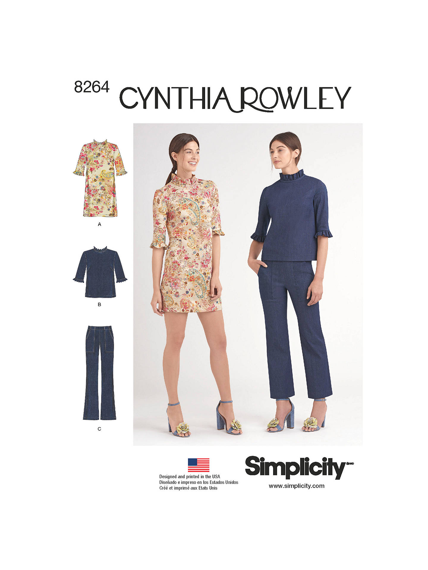 6aa3ca831cf Buy Simplicity Women's Cynthia Rowley Sewing Pattern, 8264, P5 Online at  johnlewis. ...