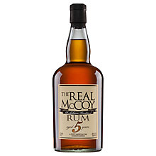 Buy The Real Mccoy Aged 5 Years Dark Rum, 75cl Online at johnlewis.com