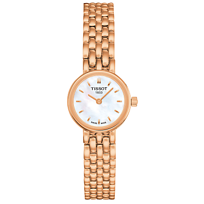 Tissot T0580093311100 Women's Lovely Bracelet Strap Watch, Rose Gold/White